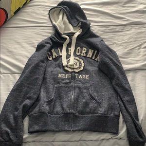 California West Coast: zip up sweatshirt
